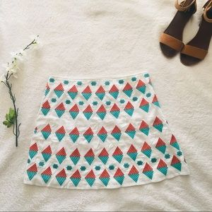 Nordstrom Skirts - $5 W/ BUNDLE Nordstrom Bea Geo Embroidered Skirt